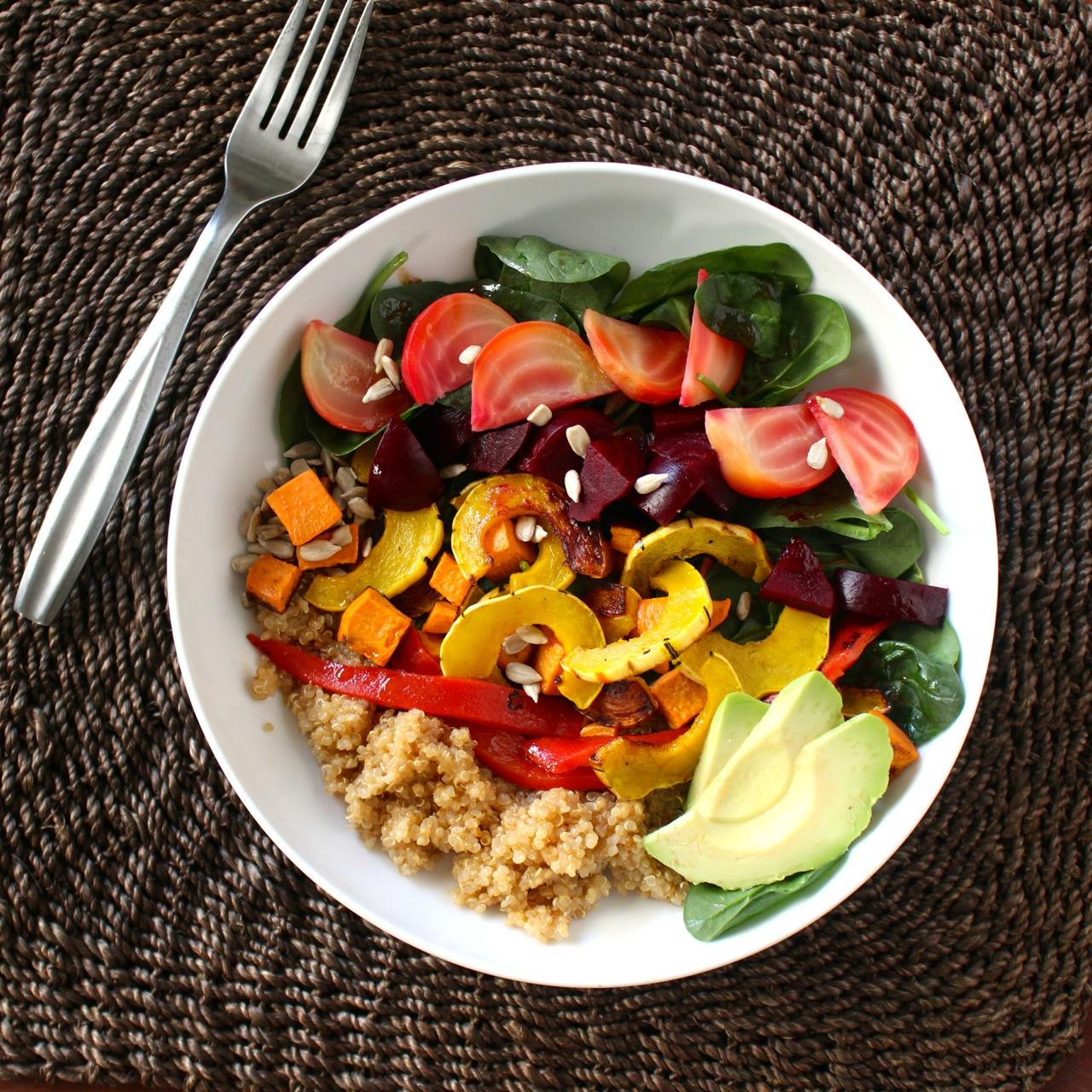 Roasted Roots Rainbow Salad