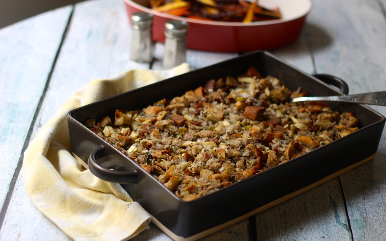 Vegetarian Miso Spiked Stuffing