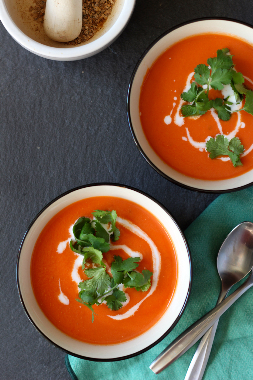 Quick Tomato Ginger Soup - Borrowed Salt