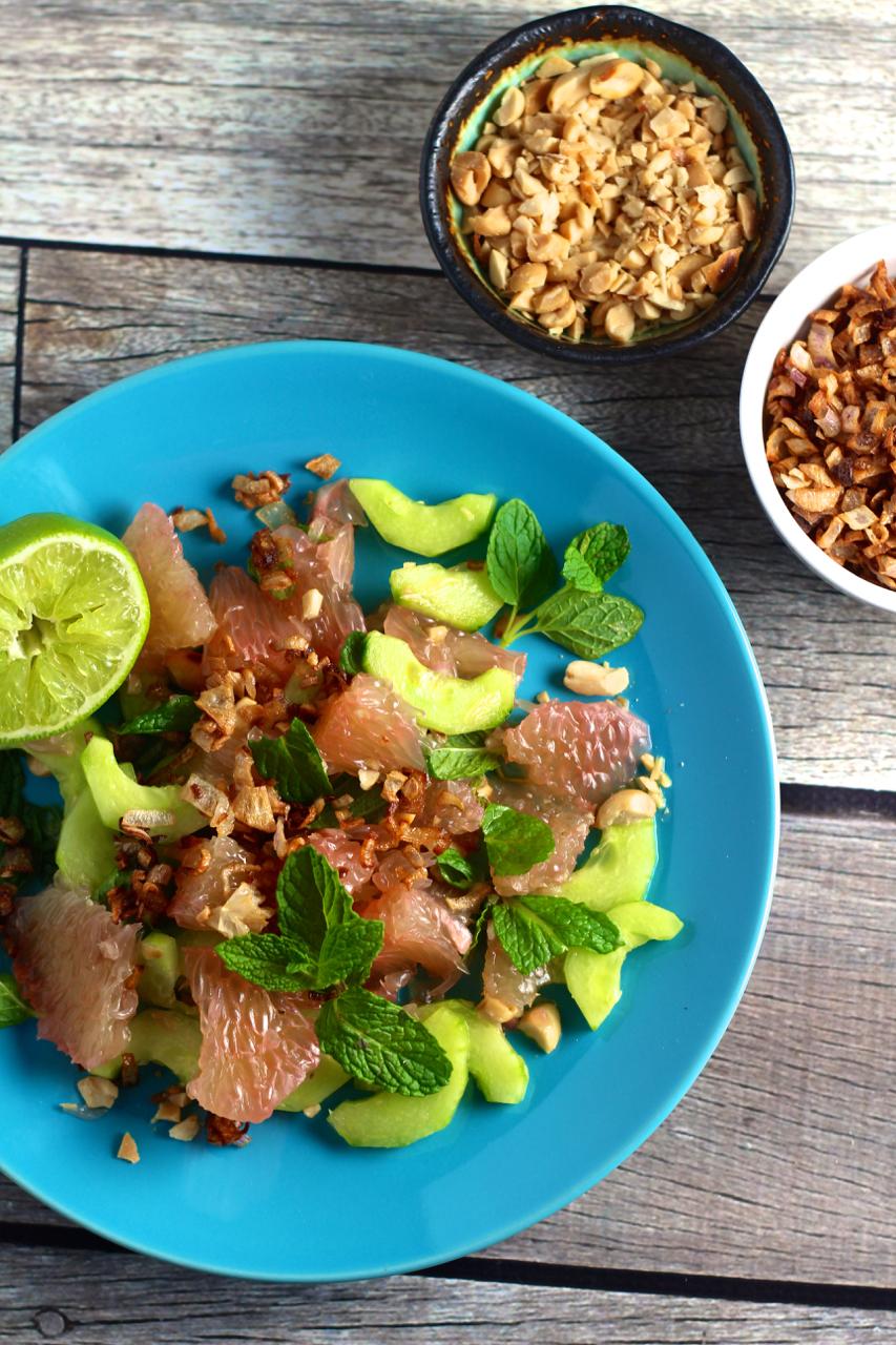 Thai Pomelo Salad - Borrowed Salt