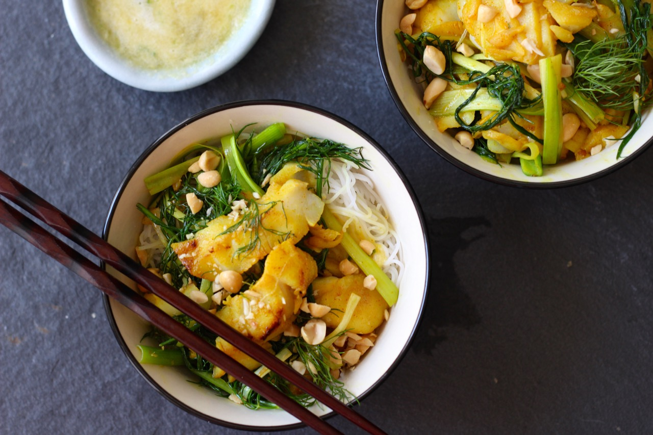 Cha Ca La Vong Hanoi Fish With Turmeric Pineapple And Dill