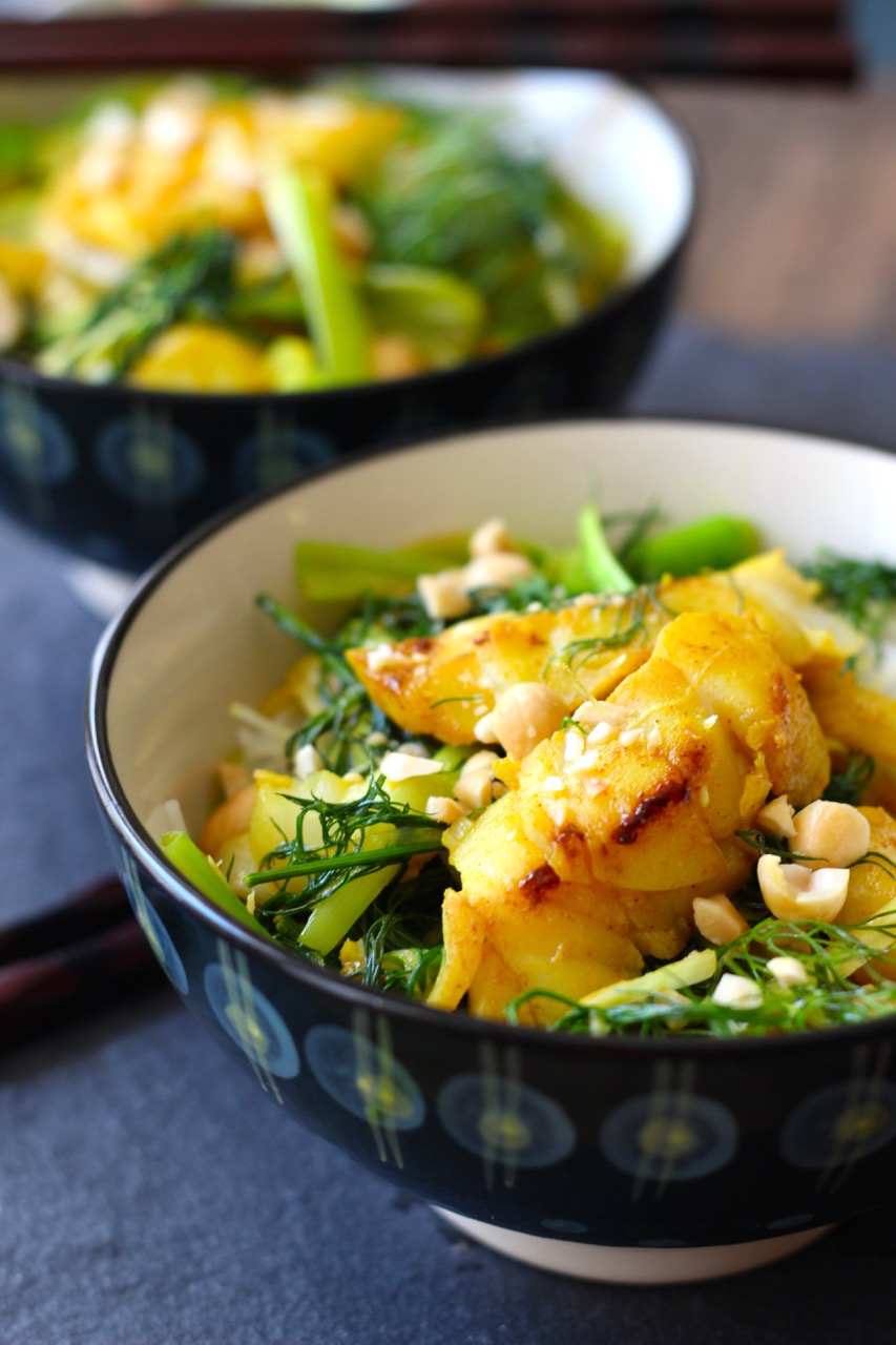 Cha Ca La Vong - Hanoi Fish with Turmeric, Pineapple and Dill - Borrowed Salt