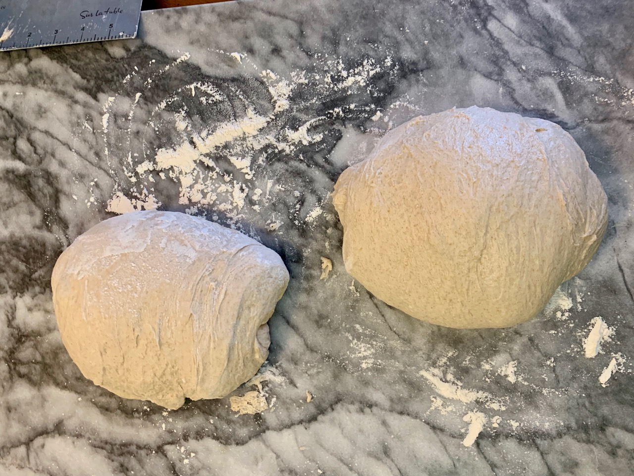 preshape sourdough bread
