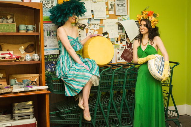 """Vintage fashion, cheesy Goodness collide in Greenport"" by Northforker"