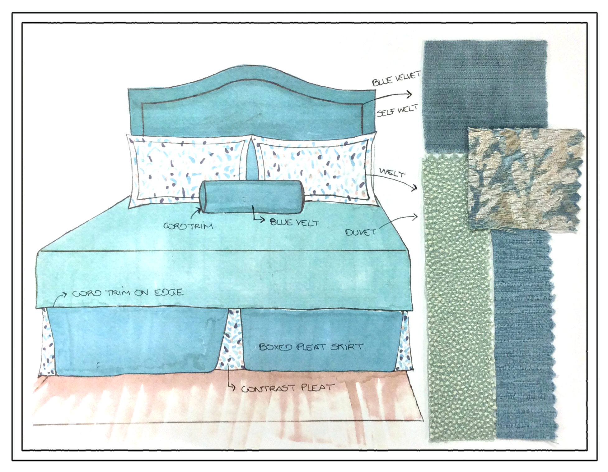 Finished bedding concept