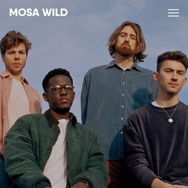 mosa wild - website design, 2019 〰️ loved working with @mickmgmt on a clean and simplistic website design for UK based band @mosawild
