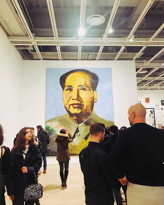 market research 〰️ kind of have a love/hate relationship with Warhol's work but it's hard to deny his genius when there's 20 whole feet of it staring back at you