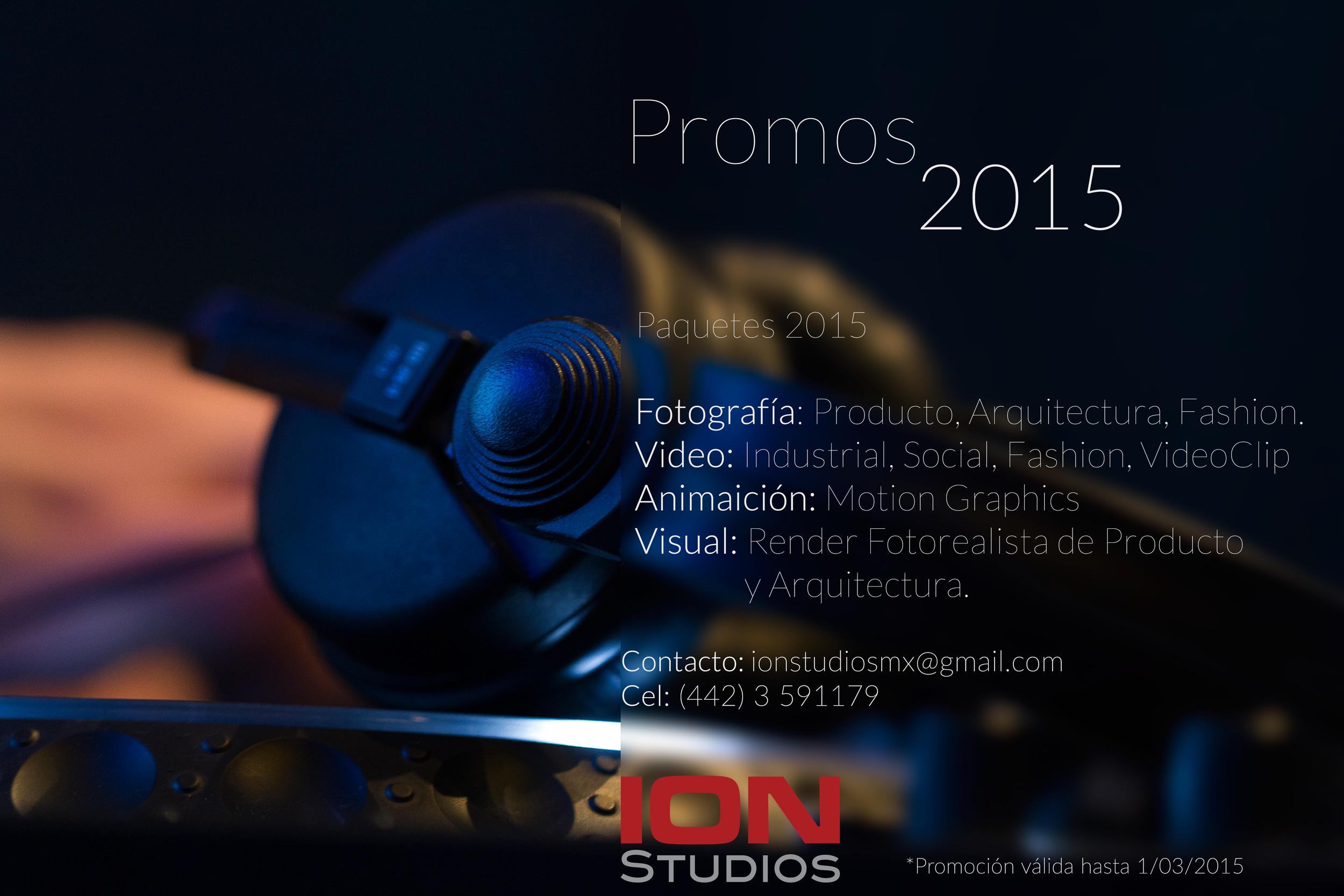 Una súper promoción de ION Studios, aprovéchala! durará muy poco tiempo