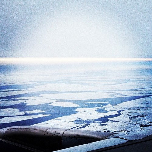 Lake Michigan from the plane, please ignore the crudeness of my Instagram photography!