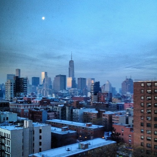 Waking up to this view of Manhattan was fantastic