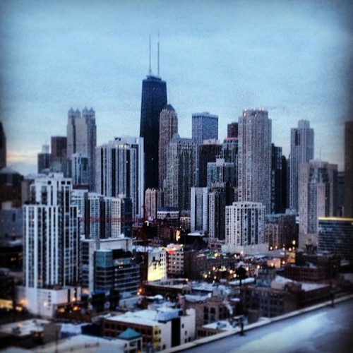 Another great view to wake up to, Downtown Chicago