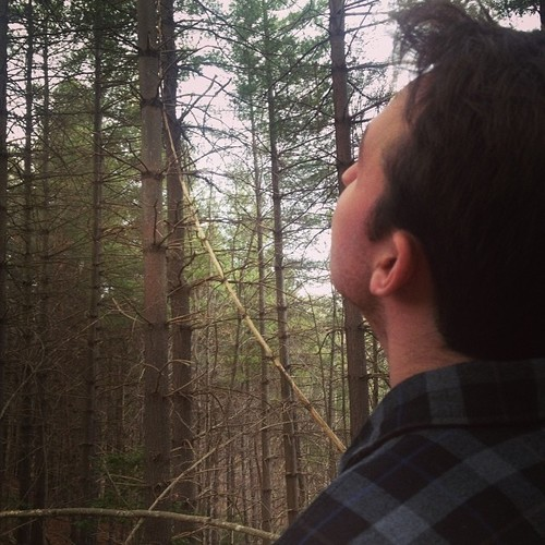 Kendall enjoying the wonders of nature