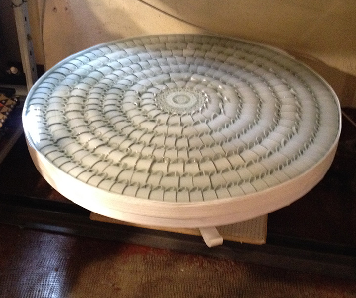 Table made of tea cups!