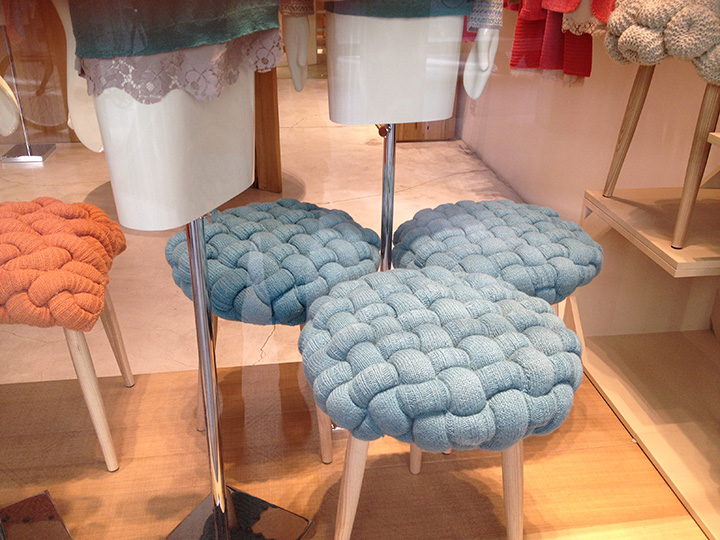 Loved these stools in shop windows
