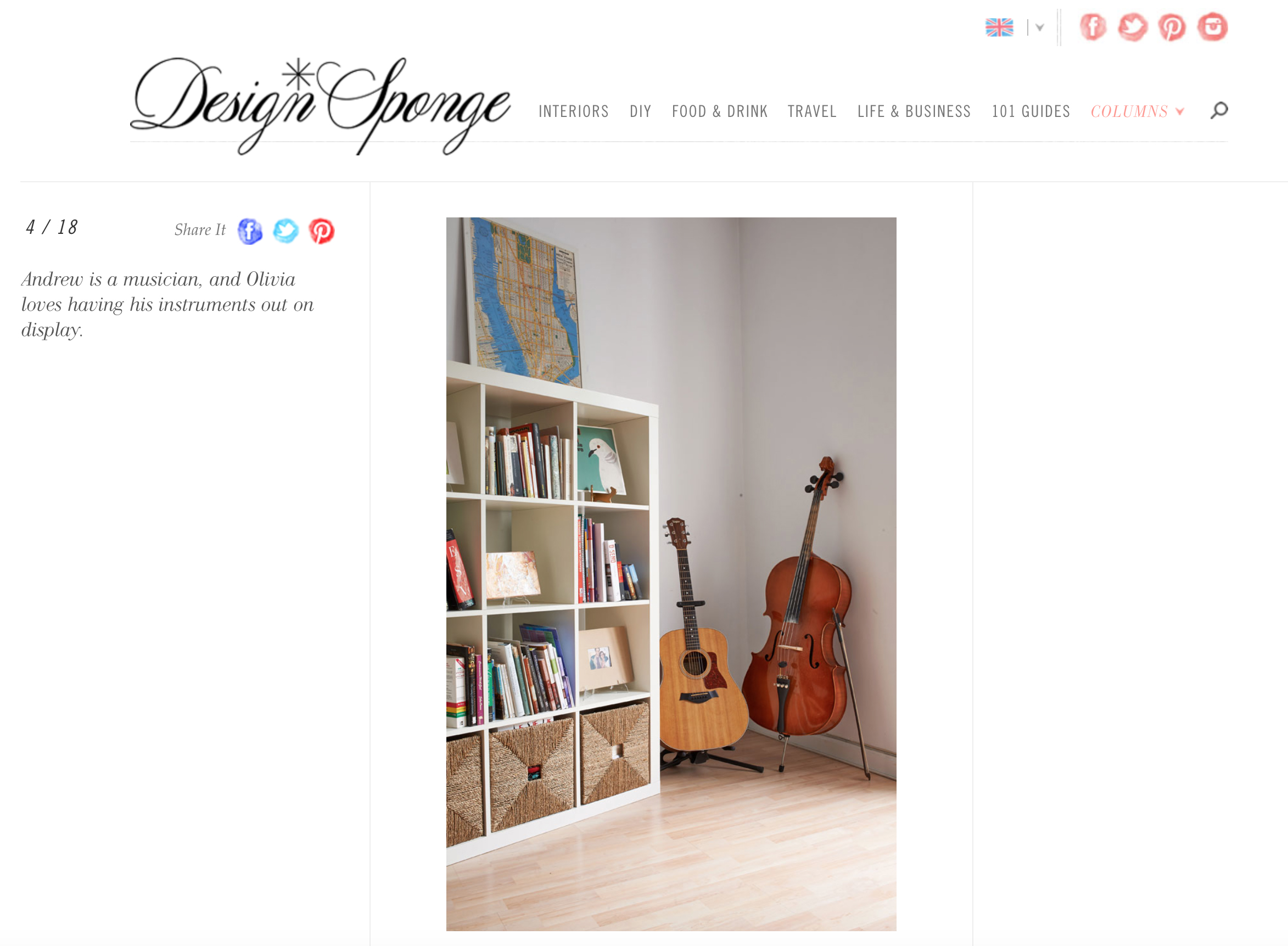 """These cards were once sold at  ShopSCAD  as part of a print series. You can see """"T for Turtle Dove"""" on dislpay in this lovely home in Madrid, Spain that was Featured on one of my favorite blogs,  Design Sponge ."""