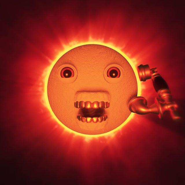 yesterday was fuckin weird  #solareclipse #nightcall #oursandyours #steveaoki #kolony