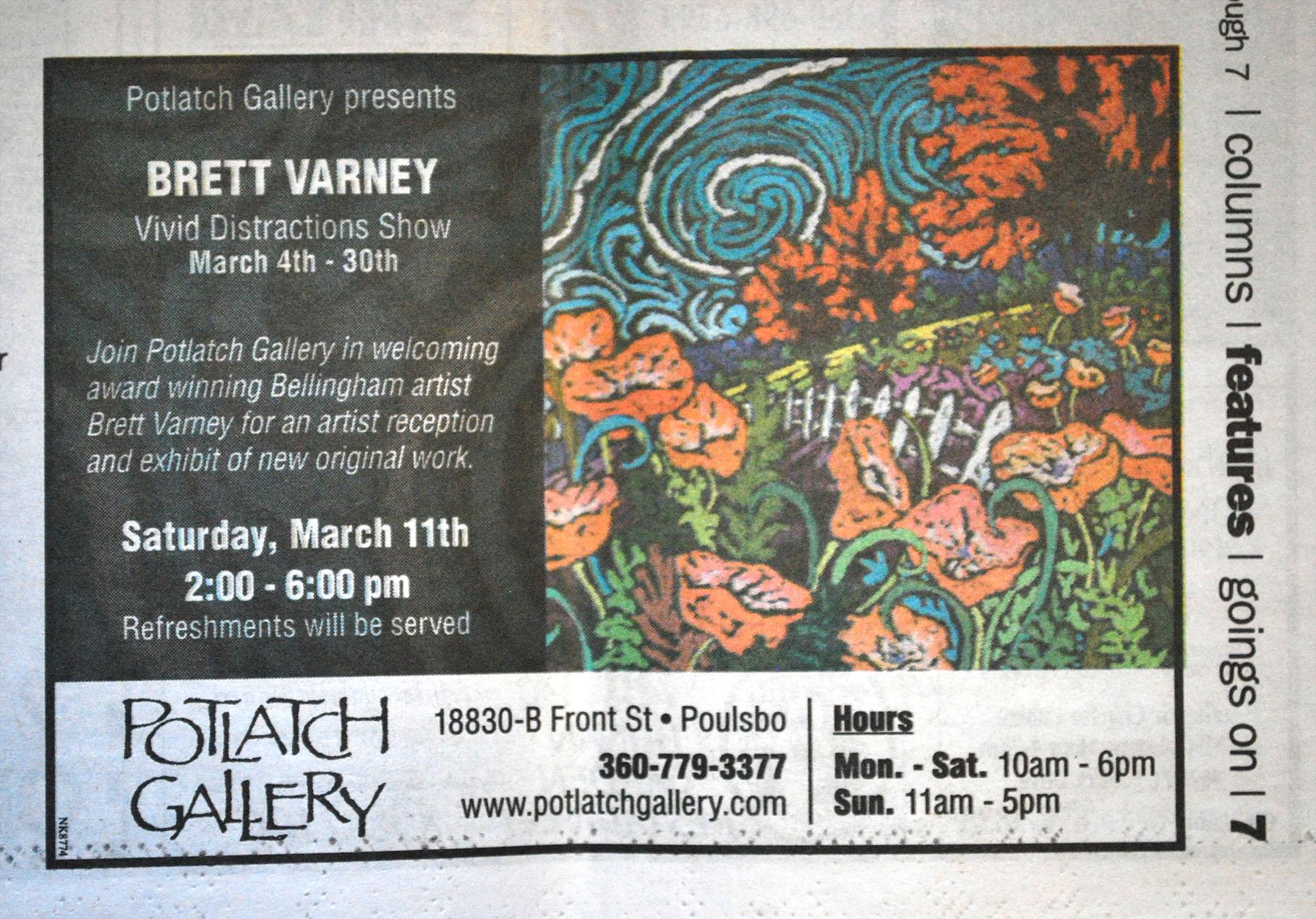 Potlatch Gallery ad