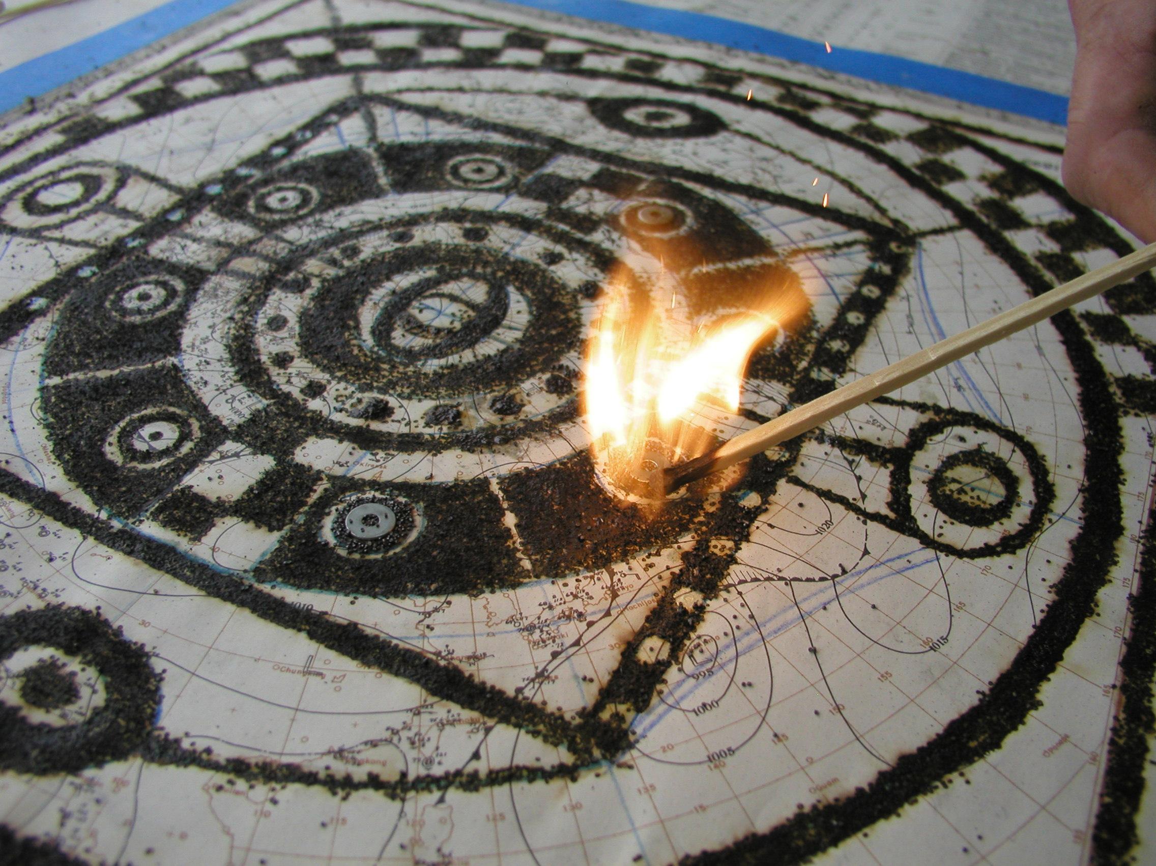 EVIL EYE Mandala in process