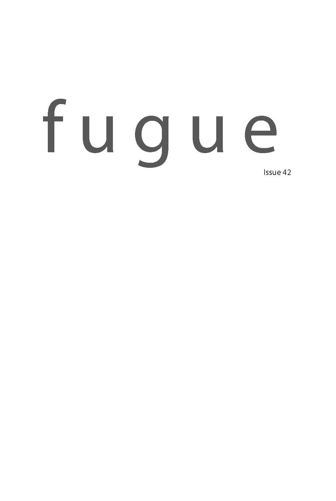 fugue 42 (2012)