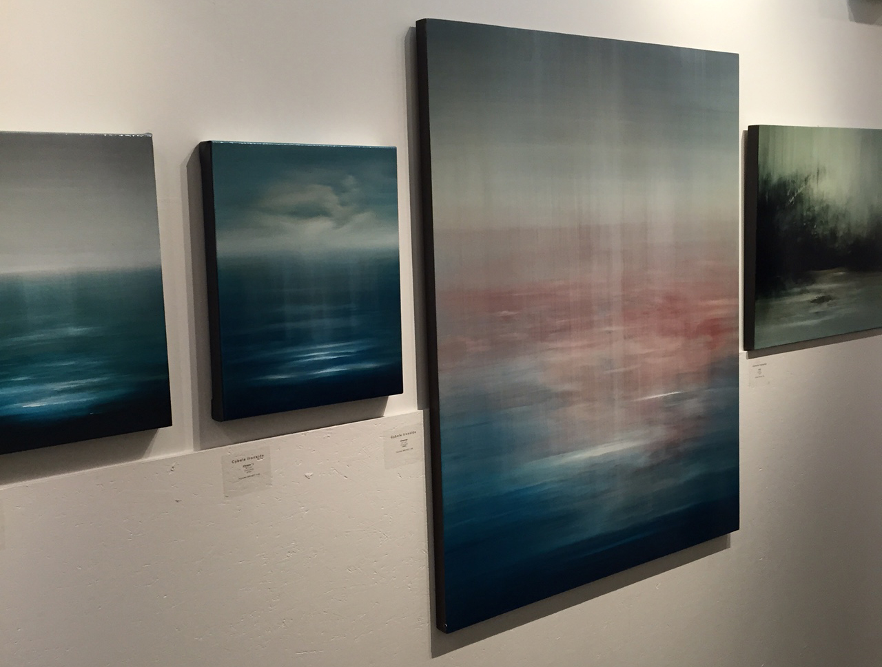 Cybele Ironside was just down the hall. Stunning landscapeabstracts.