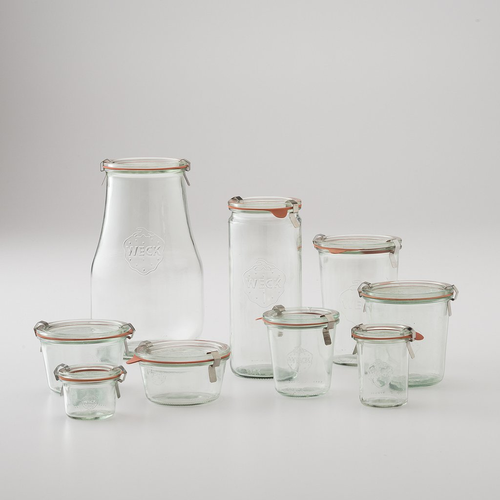 A SELECTION OF  WECK JARS