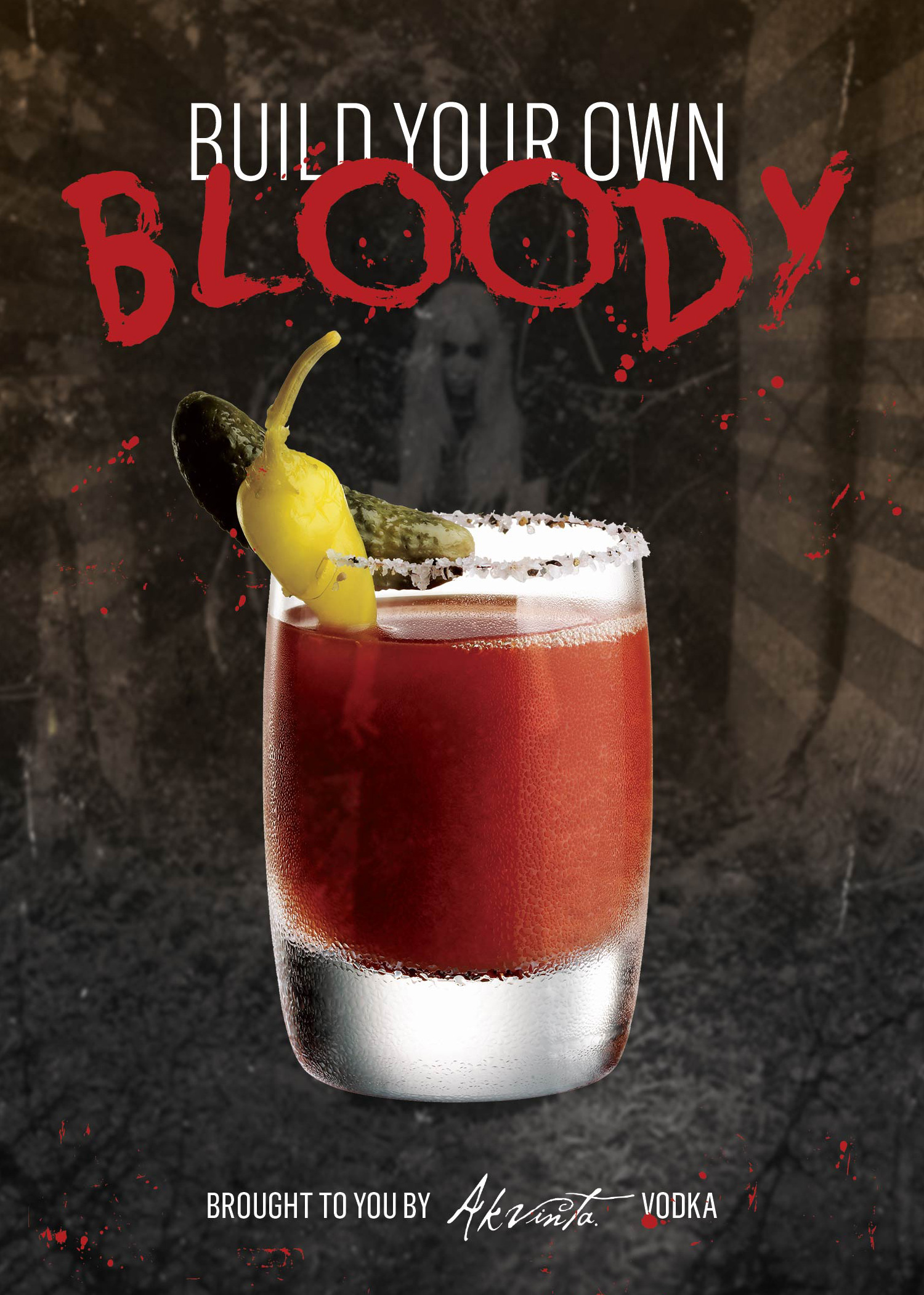 Custom bar menu designed for our build your own bloody mary bar.