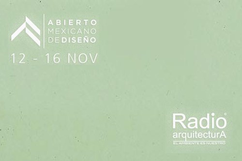 JD has been invited to participate in a broadcast for Radio Arquitectura, one of Mexico's top design and architecture podcasts who will be doing a series of interviews during the AMD.    Friday 14 Nov. 11:40 AM   Seminario 16   Centro Histórico de la Ciudad de México   www.radioarquitectura.com