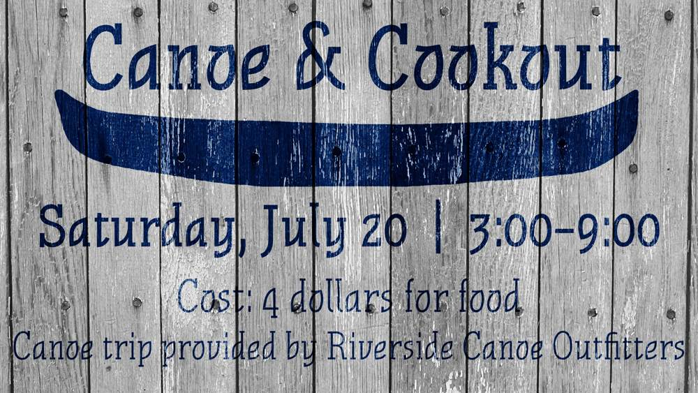 Canoe & Cookout - Small Slide