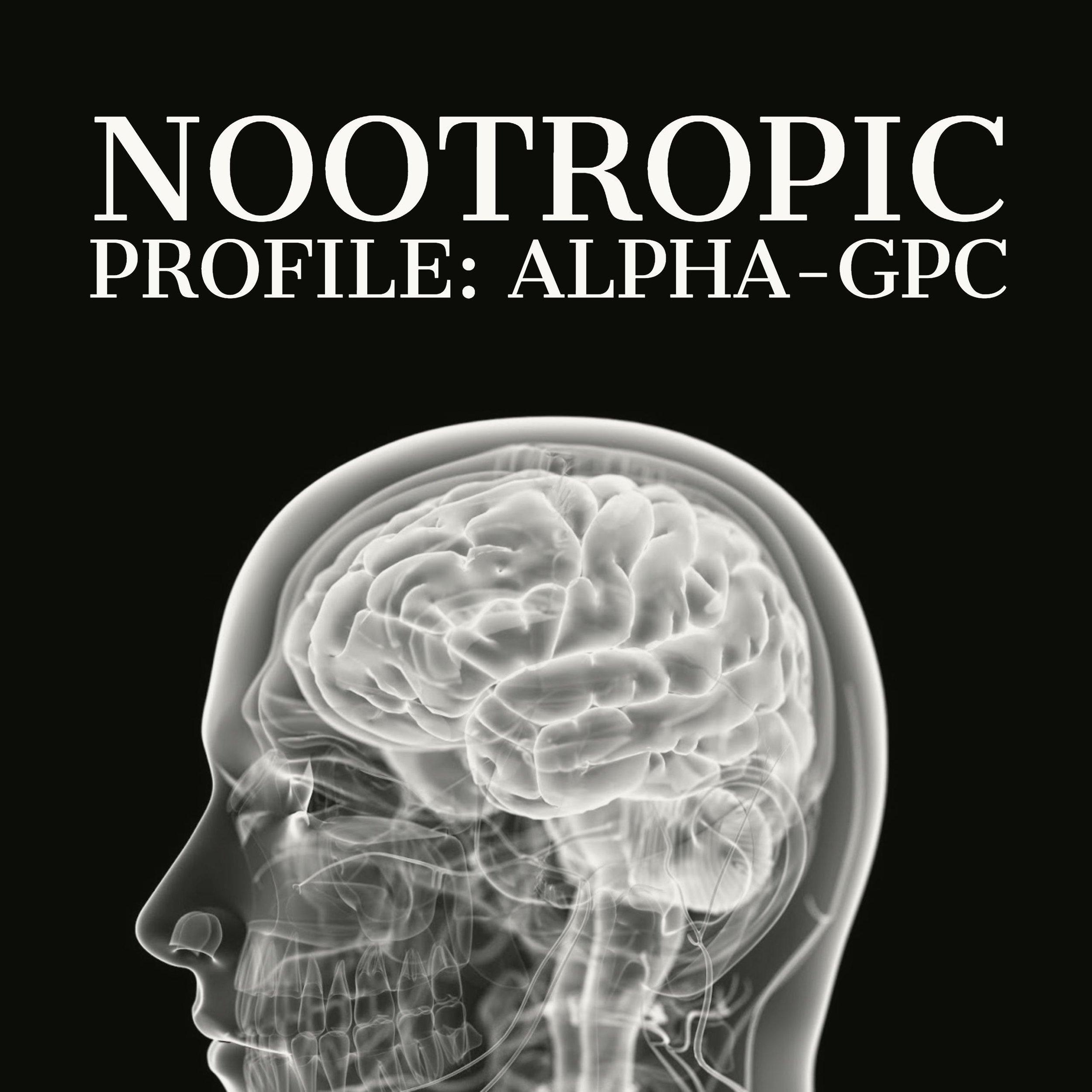 nootropic profile alpha gpc