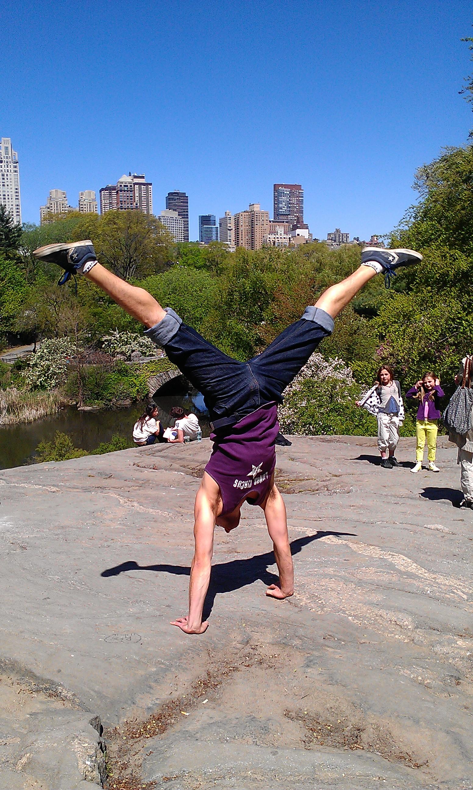 Central Park in the springtime