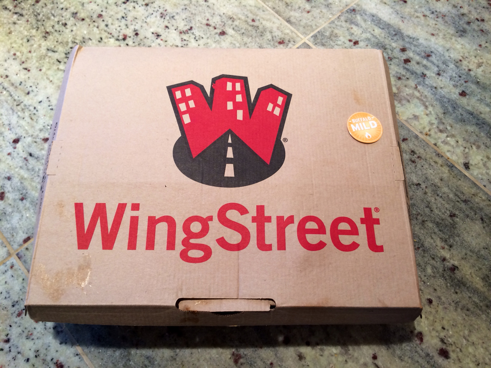 WingStreet box with contents ready to be consumed!