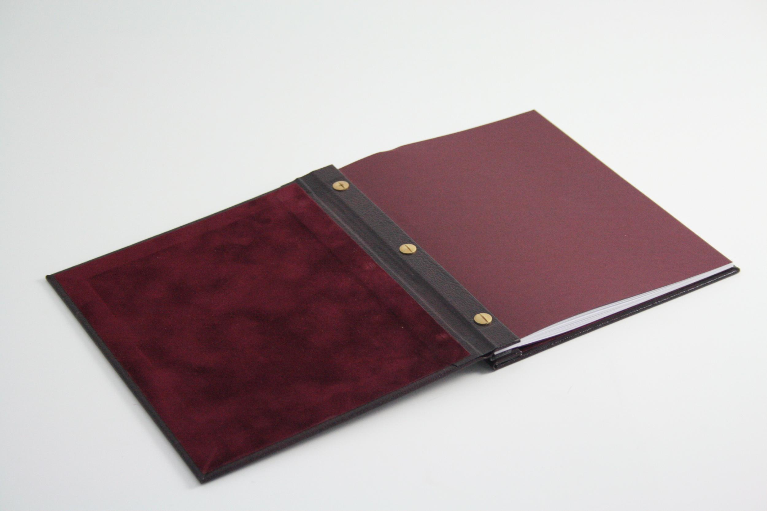 Faux Leather Portfolio