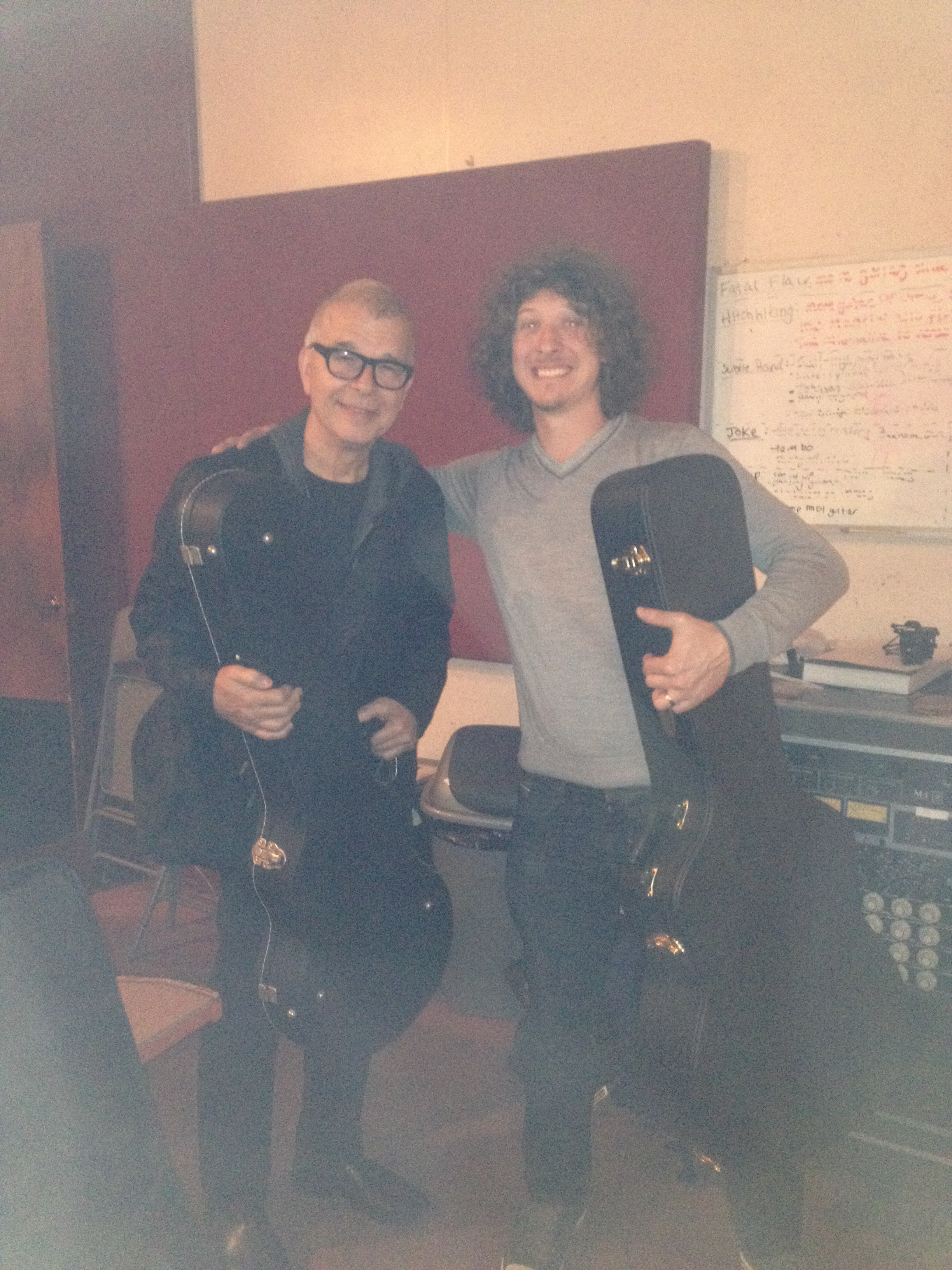 With Tony Visconti