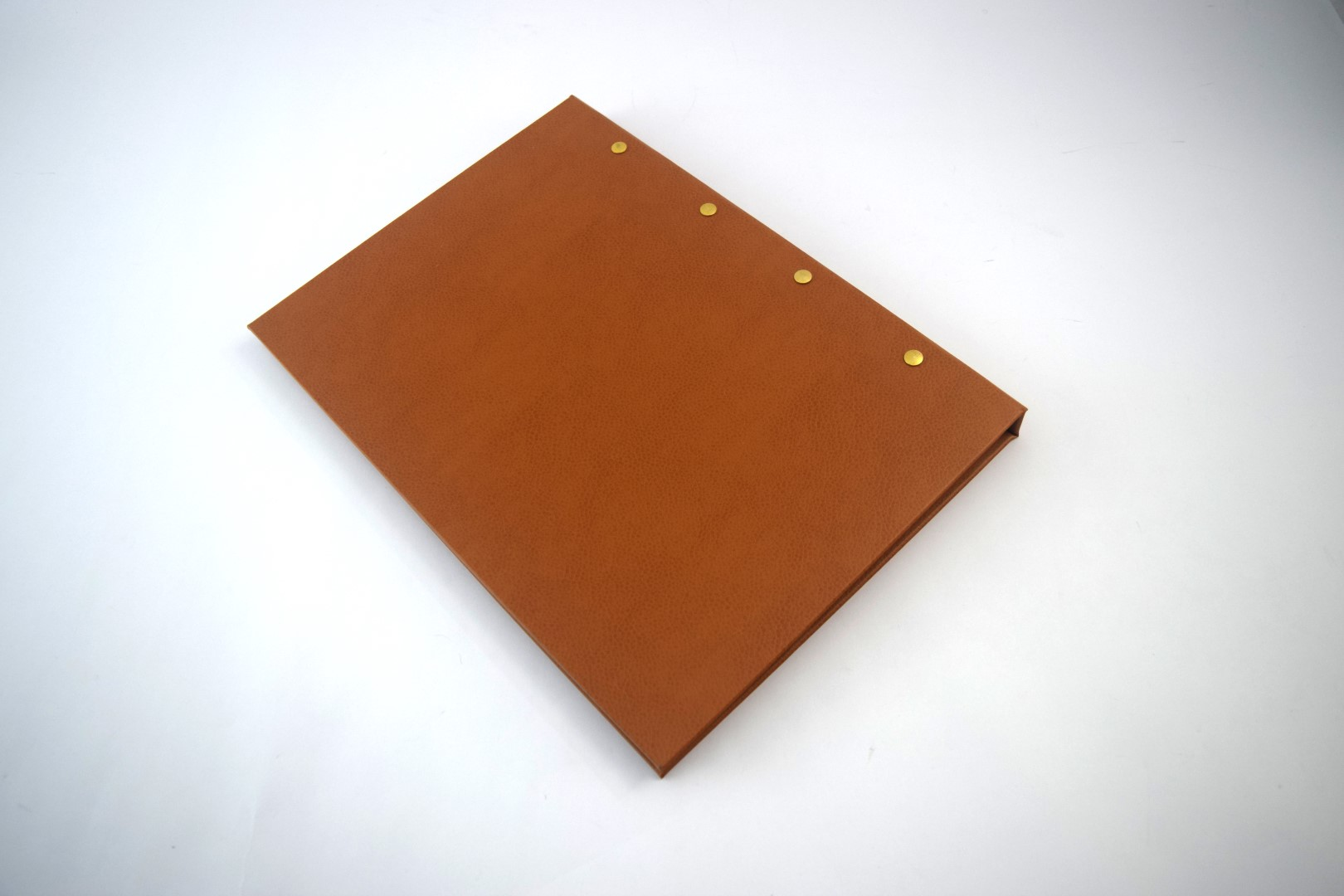 Recycled leather folders