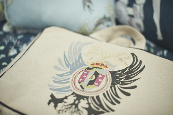 IMAGE 5: All Forivor's bedlinen is presented in this organic Forivor Suitcase emblazoned with their beautiful crest.   Photo Credit: Jon Gorrigan for Forivor