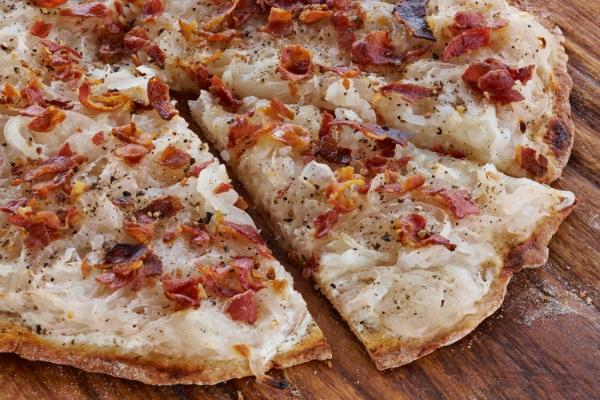 Alsatian bacon and onion tart