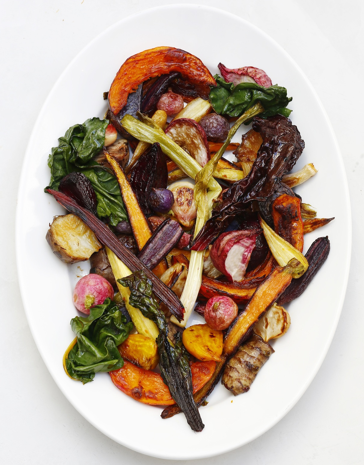 Roasted Autumn Rainbow Vegetables