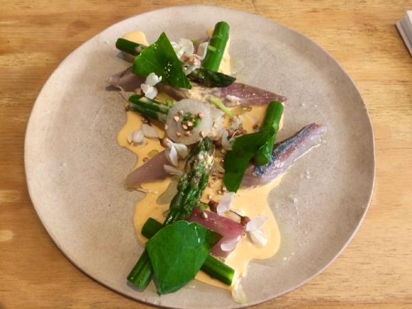 Mackerel + asparagus + nasturtium.jpg