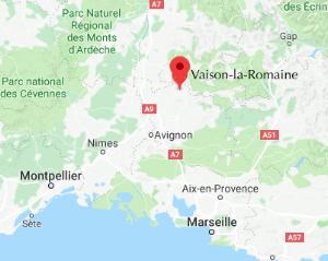 Vaison la Romaine map.png