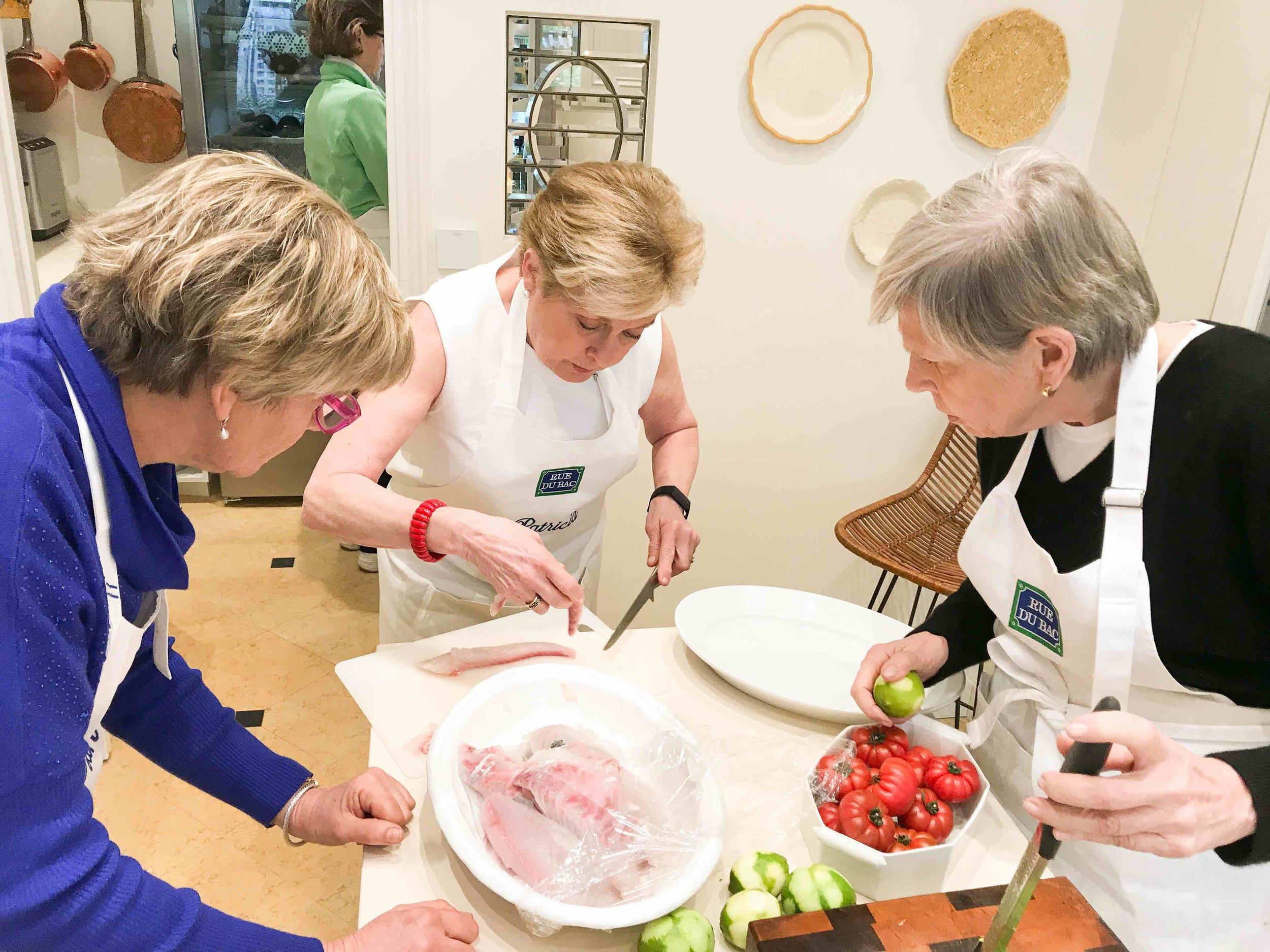 Patricia demonstates preparing sea bream tartare