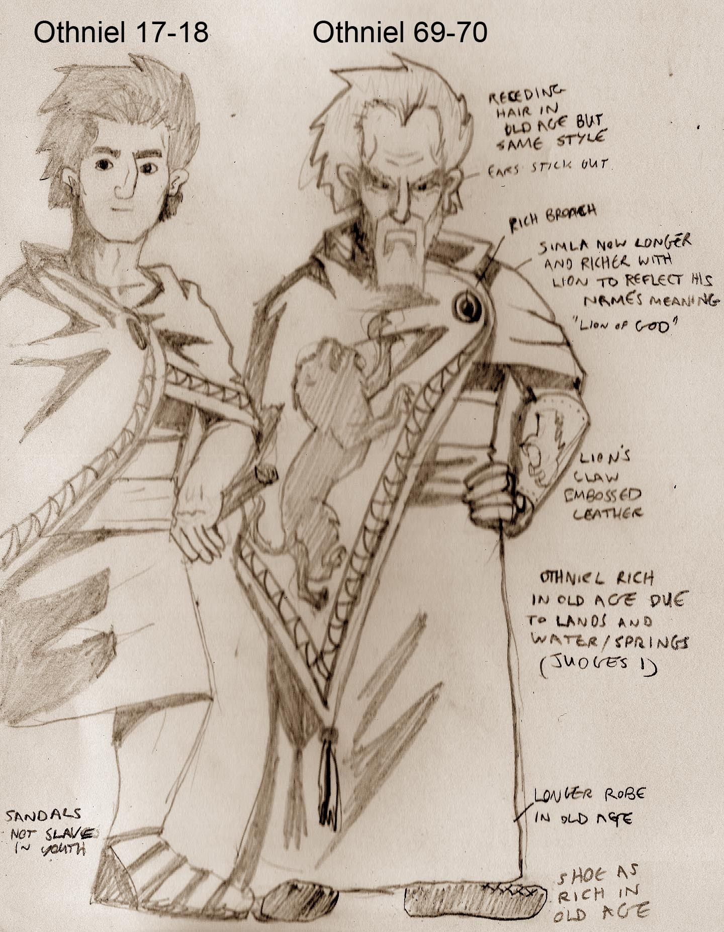 Othniel master sketches