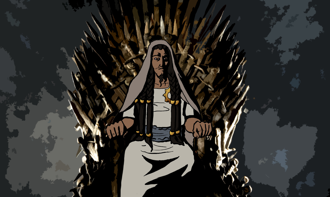 Samson on Iron Throne Word for Word Bible Comic