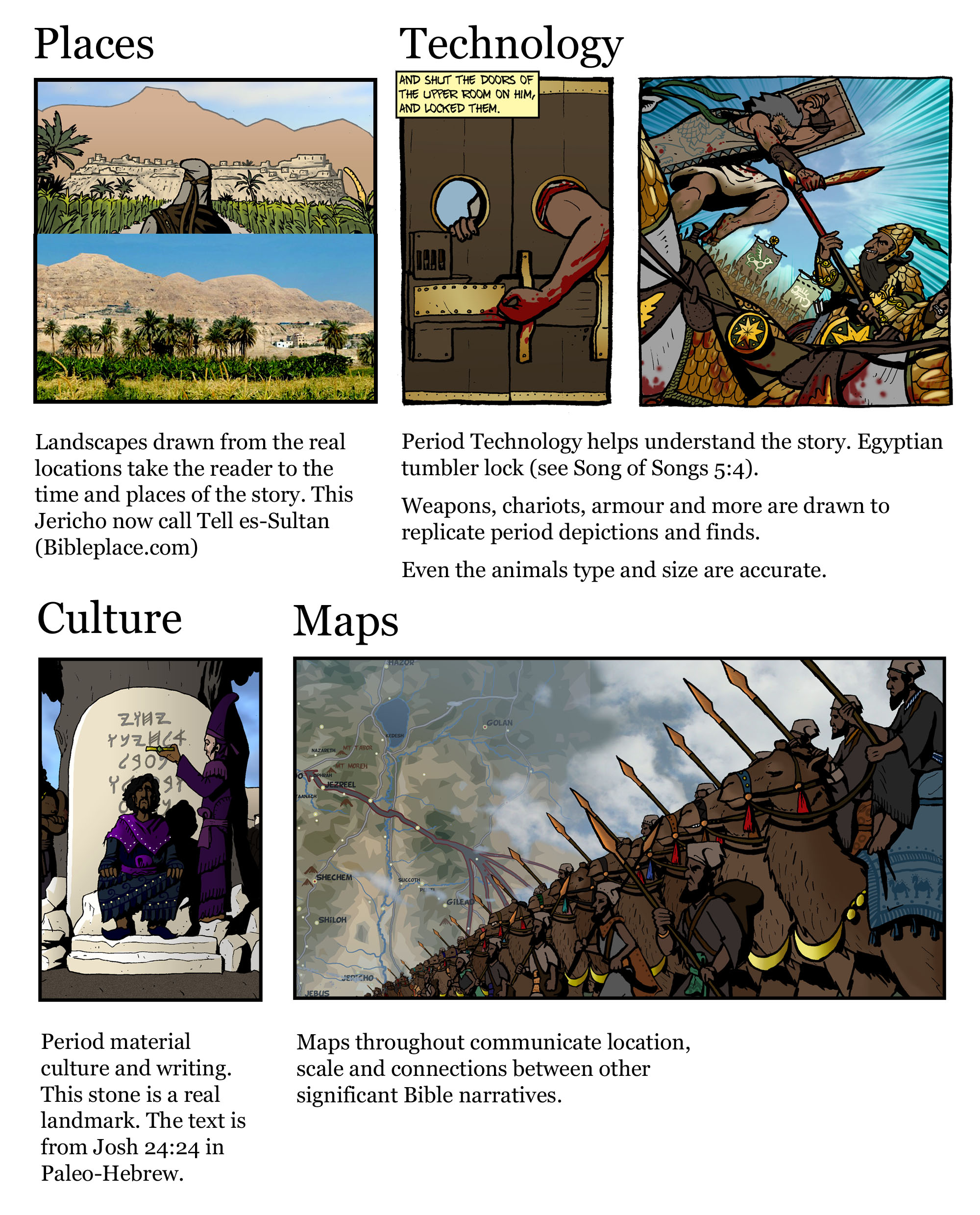 Word for word bible comic Historical accuracy