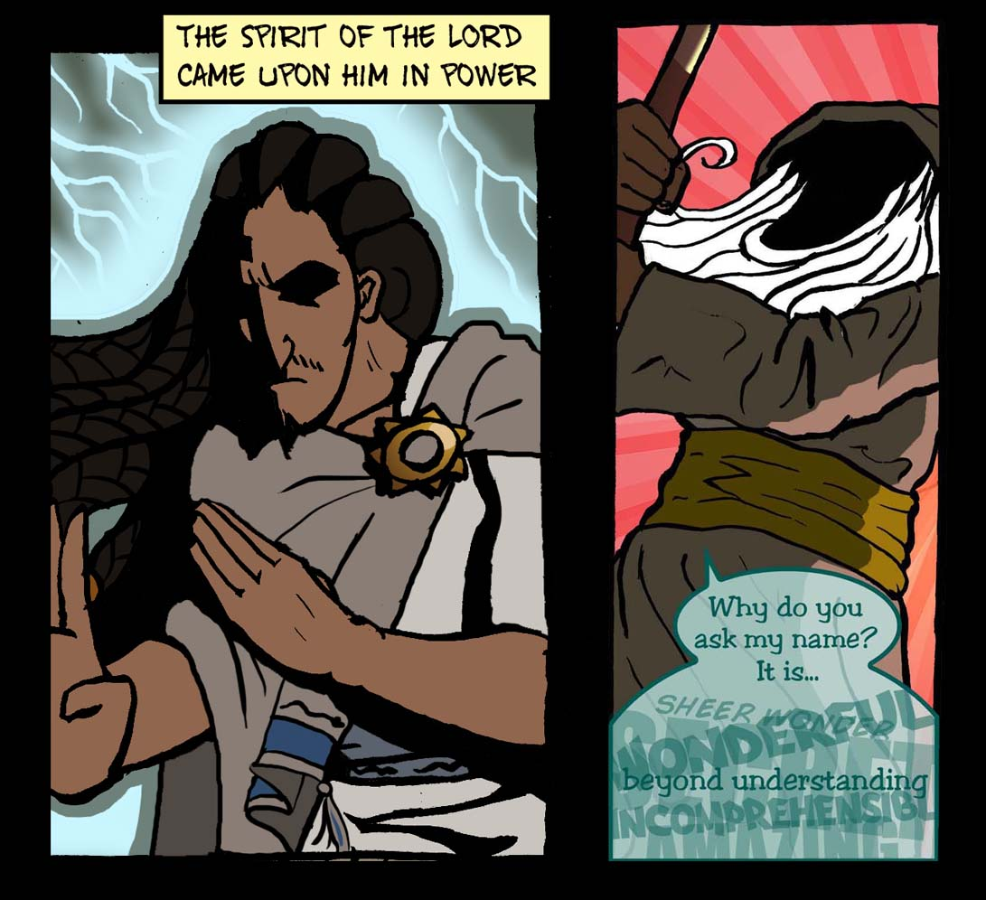 Holy Spirit colour in the Word for Word Bible Comic