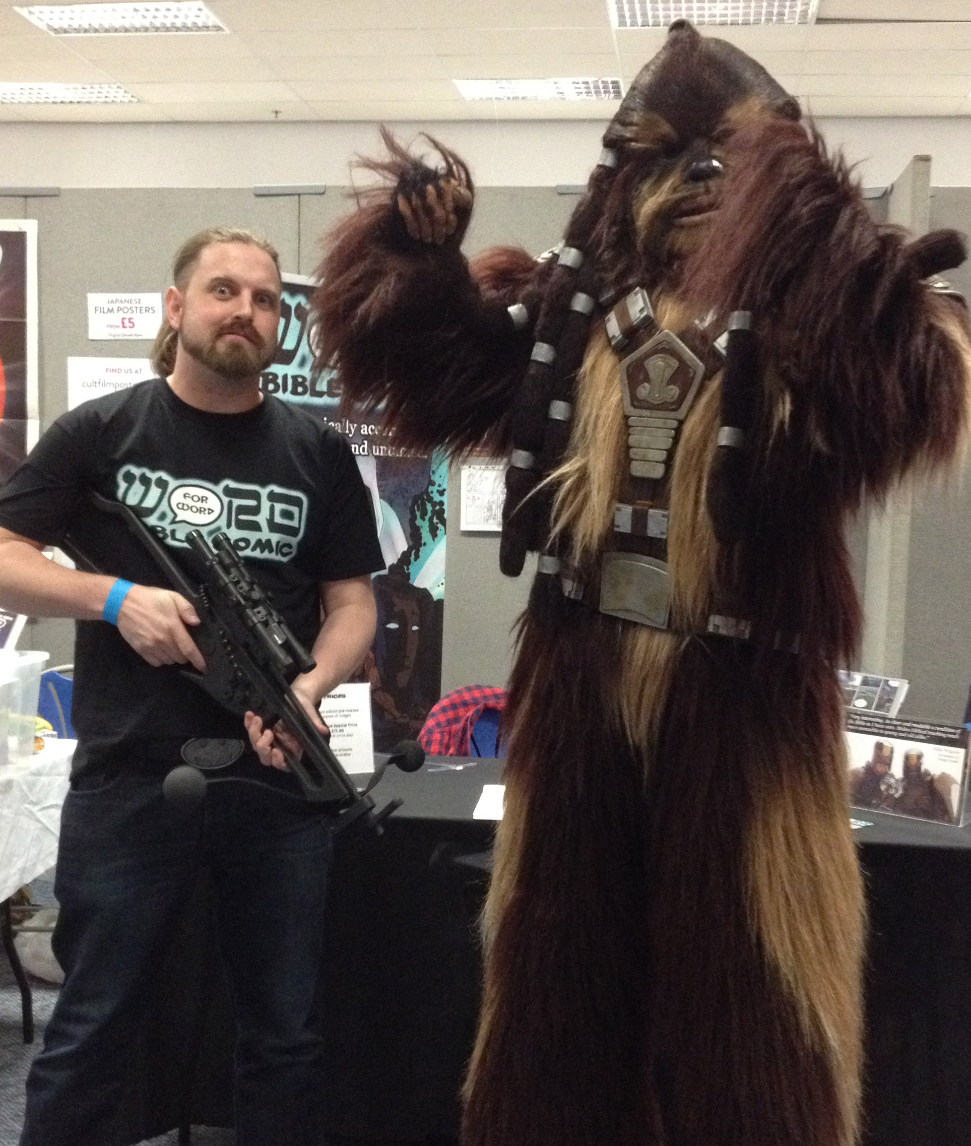 Wookie at Word for Word Bible Comic Stand