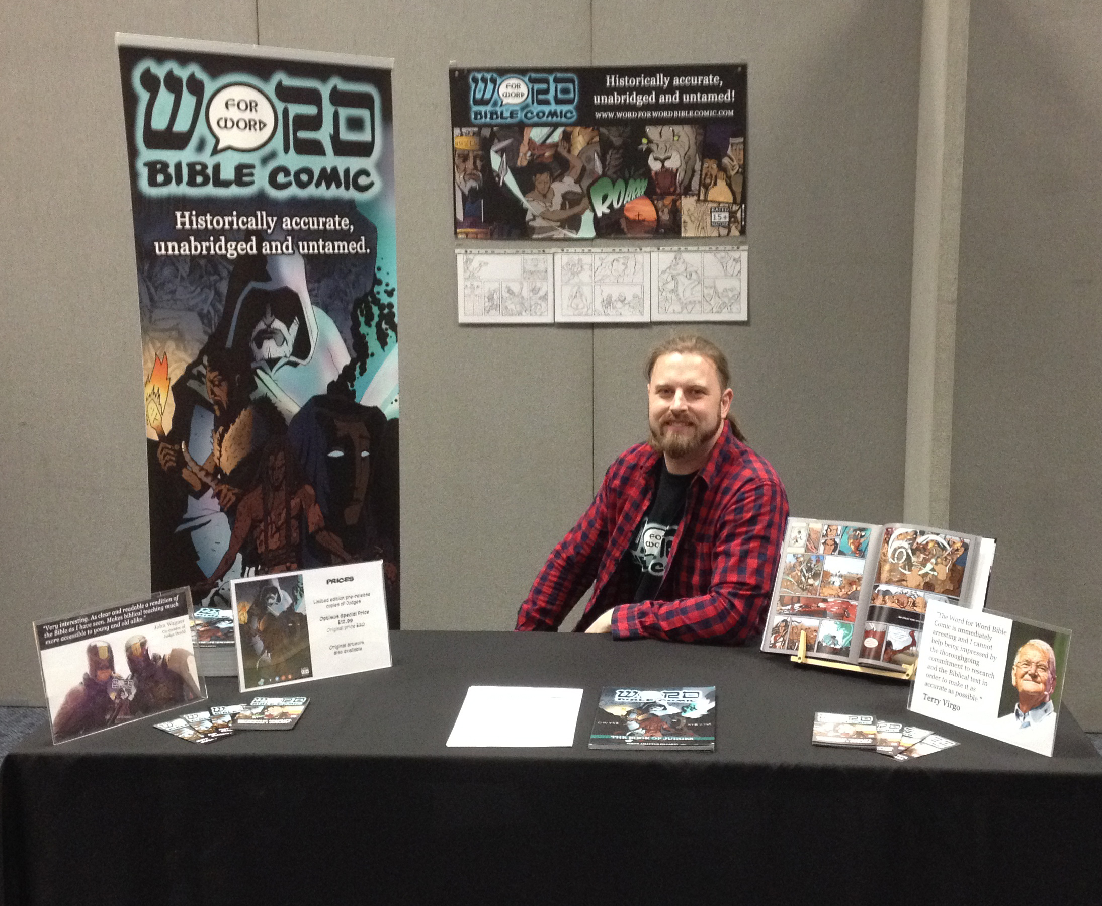 Word for word bible comic stand
