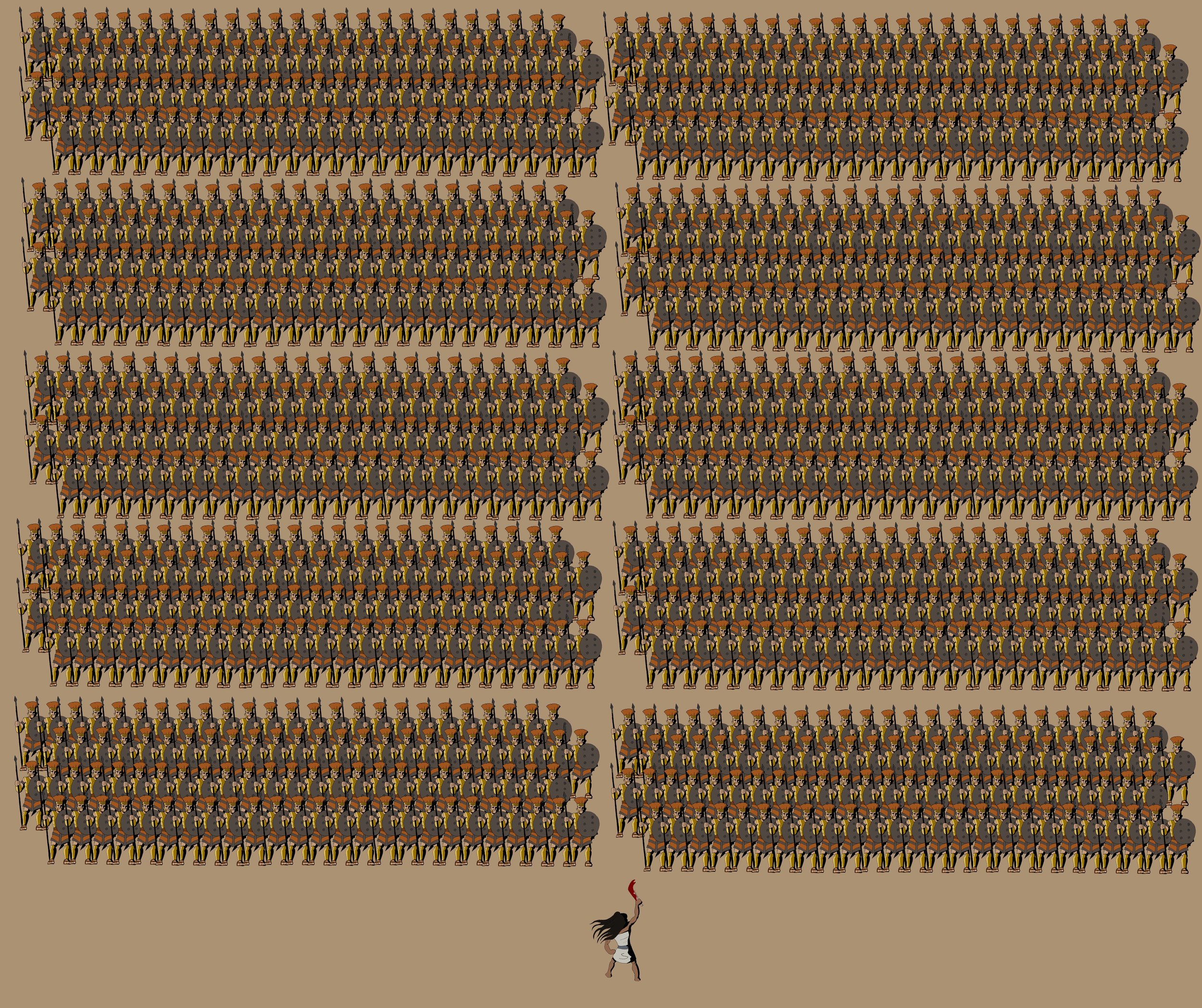 Samson vs Thousand 1000 philistines. The Word for Word Bible Comic