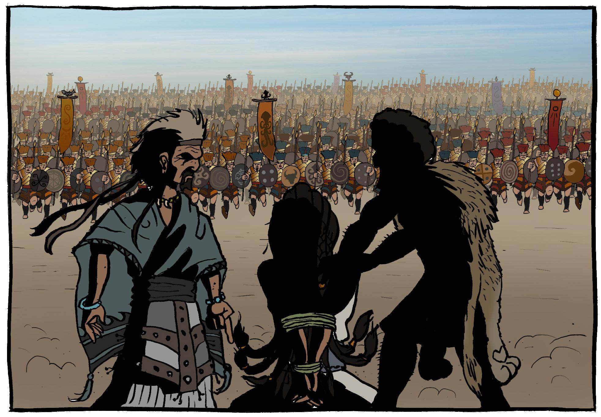 Samson against a thousand 1000 Philistines