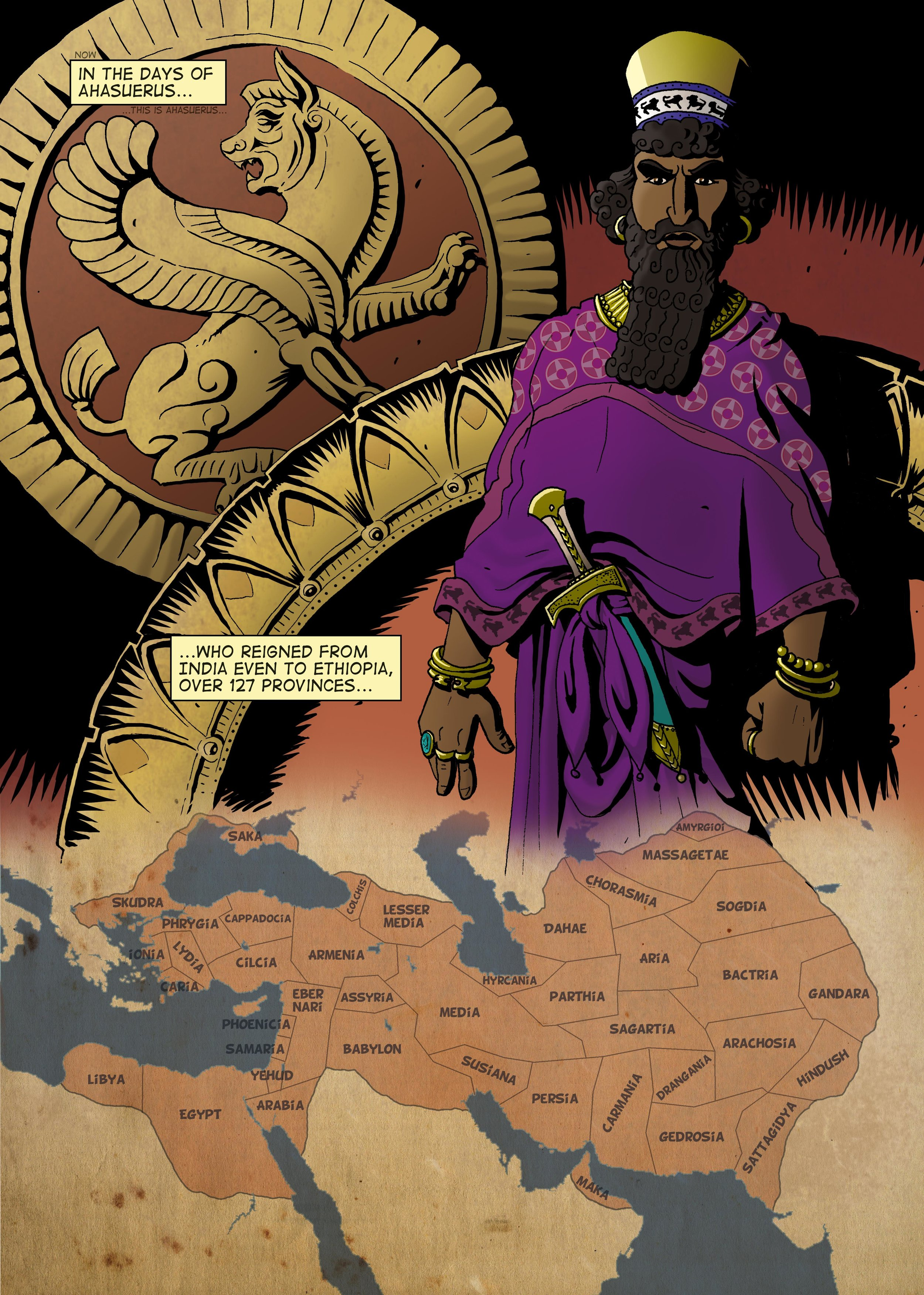 Xerxes: Book of esther page one