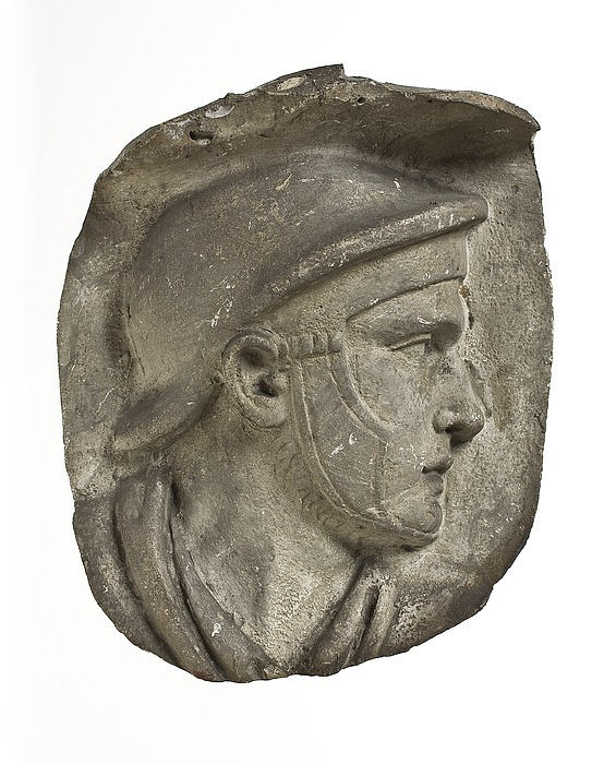 Head of helmeted Roman auxiliary, AD113